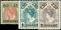 Suriname 1900 - Nr. 34-36 - Ongebruikt