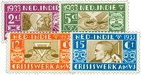 Nederlands Indië 1933 - Nr. 182-185 - Ongebruikt