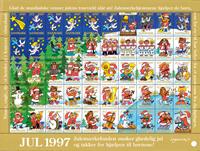 Danmark Julemærkeark 1997