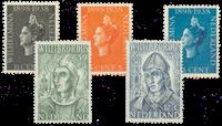 Netherlands 1938+1939 - NVPH 310-312+323-324 - Unused