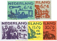 Holland 1959 - NVPH 722-726 - Stemplet