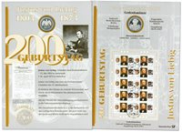 Alemania - Tarjeta de monedas - Justus v en Liebig