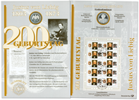 Allemagne - Carte numismatique - Justus von Liebig - PNC