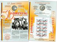 Tyskland - Møntkort - Folkeopstanden 17. juni 1953 - Møntkort
