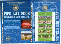 Allemagne - Carte numismatique - Coupe du monde 2006 en Allemagne - PNC
