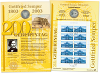 Allemagne - Carte numismatique - Gottfried Semper - PNC