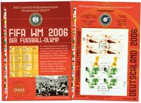 Allemagne - Carte numismatique - Coupe du Monde de  football 2006