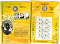 Germany - Coin card - Eduard Mörike - PNC / Coin Cover