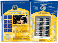 Germany - Coin card - International Space station ISS
