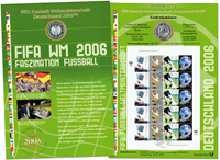 Germania 2006 - Mondiali di calcio - documento filatelico-numismatico