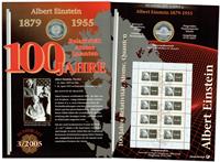 Allemagne - Carte numismatique - Albert Einstein - PNC