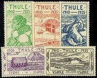 Grønland Thule 1935-36, AFA nr. 1-5 - Postfrisk