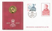 Grønland Bryllupsmøntbrev - Dronning Margrethe 60 år