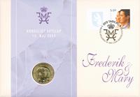 Grønland Bryllupsmøntbrev - Kronprins Frederik og Mary Donaldson