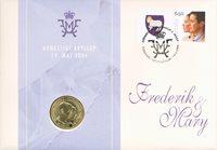 Færøerne bryllupsmøntbrev - Kronprins Frederik og Mary Donaldson