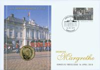Møntbrev Margrethe 70 år - Flot møntbrev