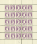 Greenland parcel post complete sheet