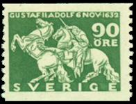 Sverige Facit 237 1932 Kong Gustaf II Adolfs død v/Lützen