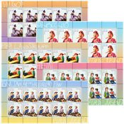Tyskland Børnefortællinger - Postfrisk sæt 10-ark