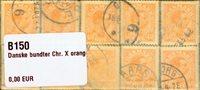 Danmark - bundter - Chr. X orange 40 øre - 10 stk.