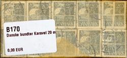 Danmark - bundter - Karavel 20 øre grå - 10 stk.