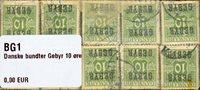 Danmark 1923 - 10 bundter - AFA Gebyr 1 - Stemplet