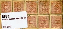 Danmark - bundter - Porto 40 øre vinrød - 10 stk.