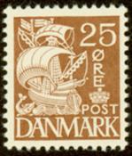 Danemark - Timbre gravé - AFAf 214