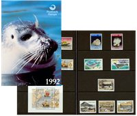 法罗群岛- 1992年邮折