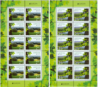 Lituanie - Europa 2011 - Feuillet de 10 - 2 valeurs