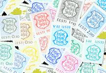 Estland - Dagl., flag og landkort - Postfrisk sæt 18v