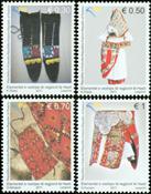 Kosovo - Traditionelle beklædningsgenstande - Postfrisk sæt 4v