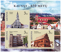 Lithuania - 650th anniversary of Kaunui - Mint souvenir sheet