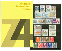 Danemark - Collection ann. 1974