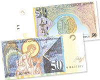 Macédoine - billet de banque 50 dinars