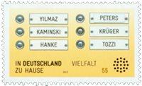 Tyskland - Integration - Postfrisk frimærke