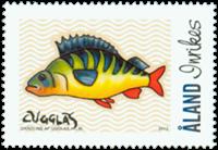 Åland - Mon Åland - poissons - Timbre neuf