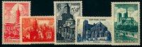 1947 - YT 772 à 776 - Cathédrales