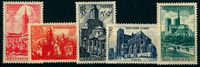 1947 - Y&T 772 à 776 - Cathédrales