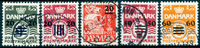 Færøerne 1940-41 - Komplet sæt 2A-6A # .