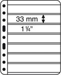 Pochettes plastiques VARIO, 7 compartiments, pellicule noire, de Leuchtturm