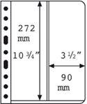Vario插卡,2条纵向条形,透明,每包5张