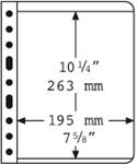 Pochettes VARIO de Leuchtturim 1 compartmt, pellicule transparente