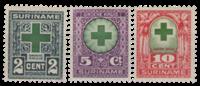 Groene Kruiszegels (nr. 127-129, postfrisk)
