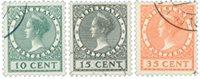 Pays-Bas 1924 - NVPH 136-38 - Oblitéré