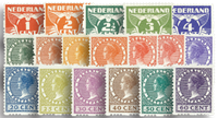 Netherlands 1925 - NVPH R1-R18 - Unused