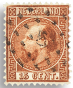 Holland 1867-1868 - NVPH 9 - Stemplet