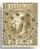 Holland 1867-1868 - NVPH 12 - Stemplet