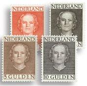 Koningin Juliana 'en face' 1949 - Nr. 534-537 - Ongebruikt