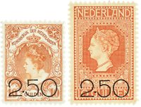 Holland 1920 - NVPH104-105 - Ubrugt